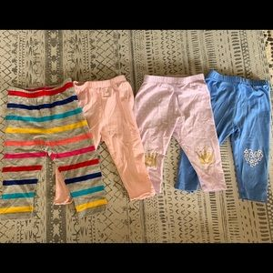 Lot of 4 baby gap girl leggings